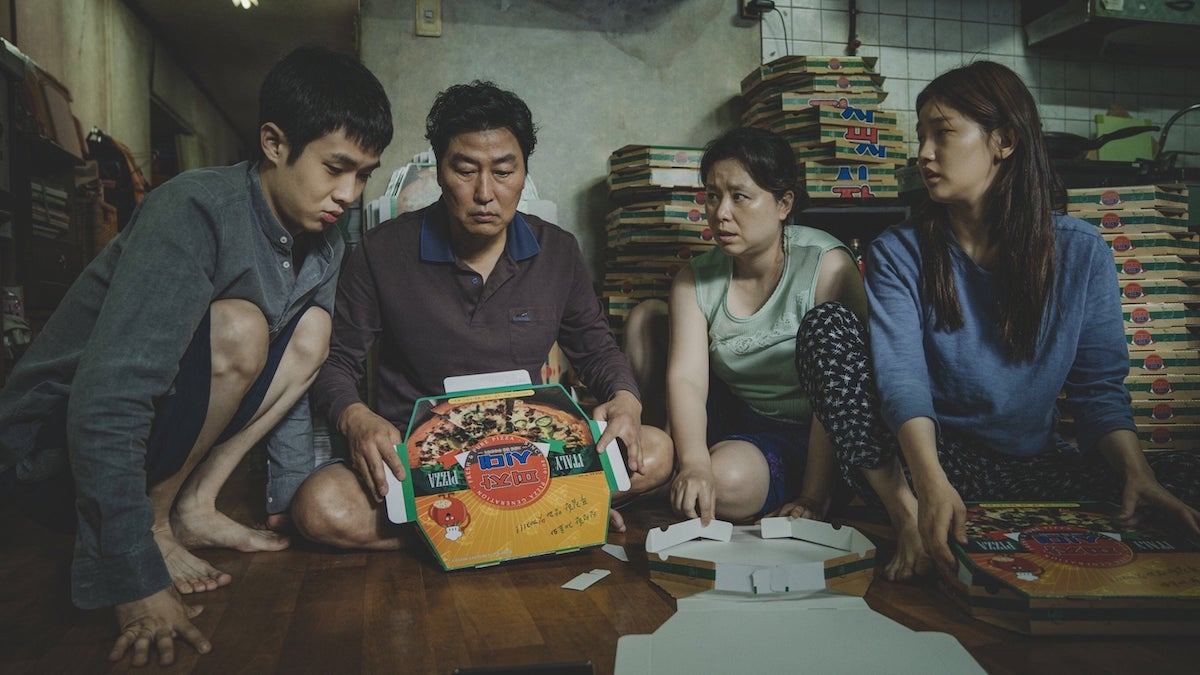 "The Cannes and Oscar-winning South Korean film, ""Parasite"" on Viu Premium."